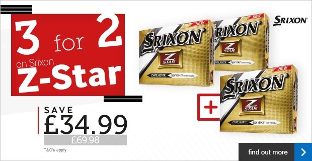 Srixon Z-Star 3 for 2 - save £34.99